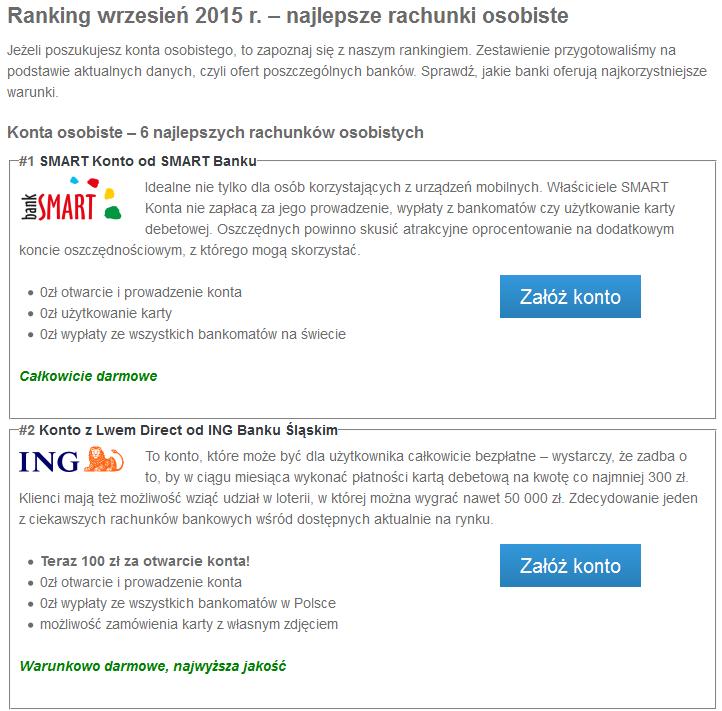 ranking kont wrzesien 2015
